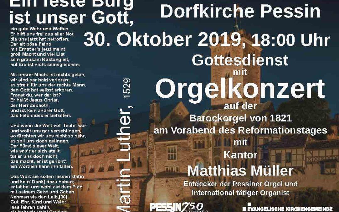 30.10.2019 – Orgelkonzert und Gottesdienst