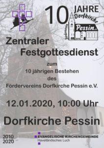 Festgottesdienst zum 10 jährigen Bestehen des Fördervereins Dorfkirche Pessin e.V. @ Dorfkirche Pessin